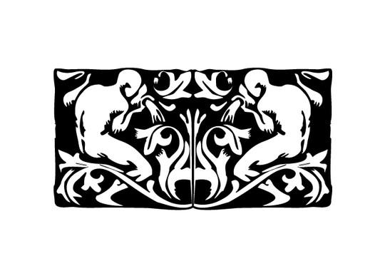 schwarz/weiss Ansicht - Wandtattoo Wasserträger