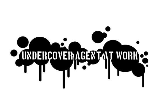 schwarz/weiss Ansicht - Wandtattoo Blatern: Undercover Agent