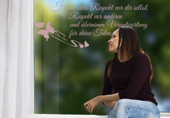 Glasdekor Dalai Lama Zitat - Bild 4