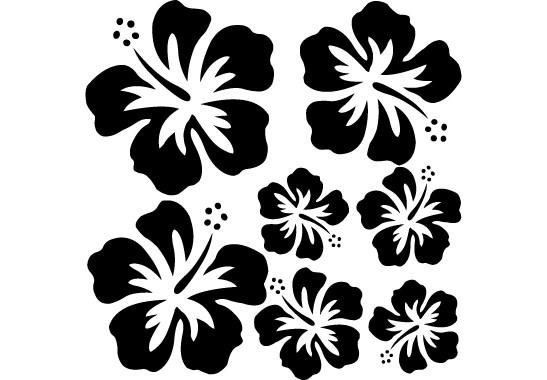 Glasdekor Hibiskus Blüten - Bild 6