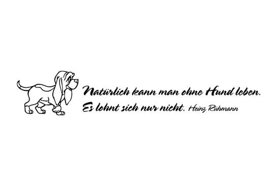 schwarz/weiss Ansicht - Wandtattoo Ohne Hund