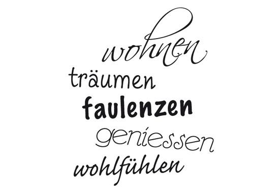 schwarz/weiss Ansicht - Wandtattoo Wohnen more