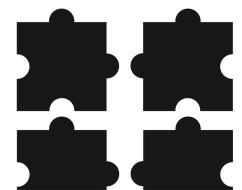 Fliesenaufkleber Zehn Puzzle Set - Bild 3