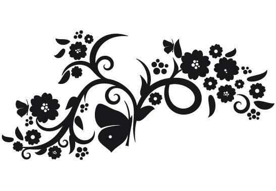 Glasdekor Blumenranke mit Schmetterlingen - Bild 6