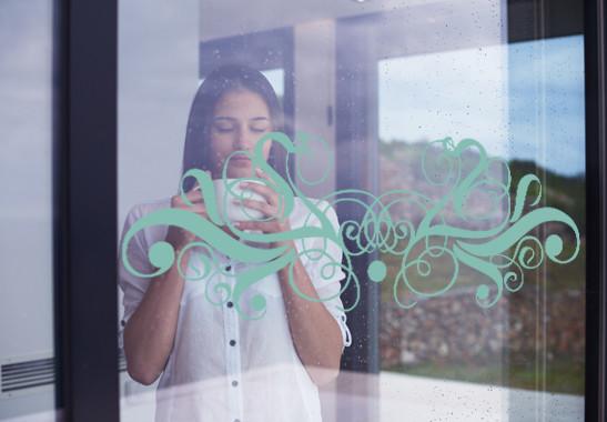 Glasdekor Feines Ornament - Bild 5