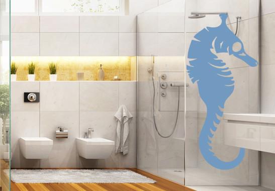 Glasdekor Seepferdchen
