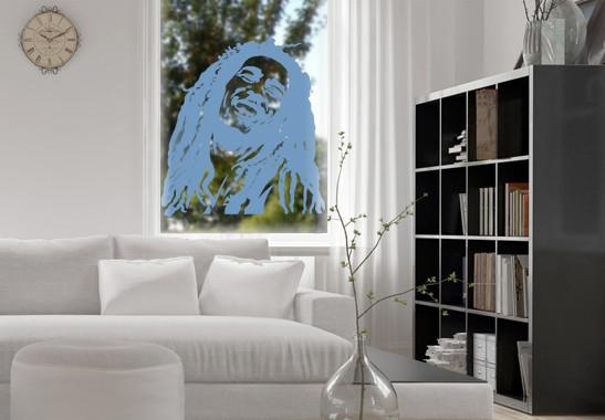 Glasdekor Bob Marley