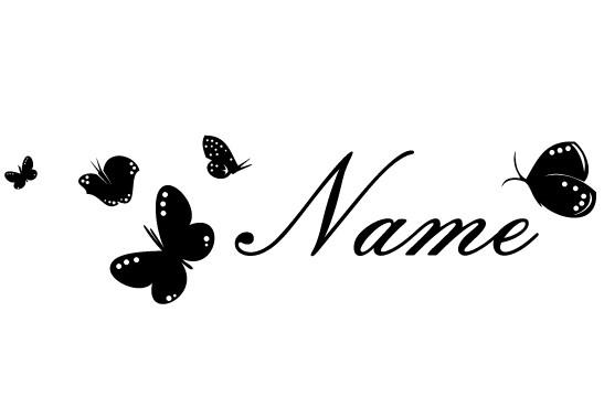 Glasdekor Wunschtext Wunderschöne Schmetterlinge - Bild 6