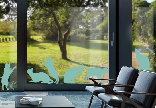 Glasdekor Katzenschwestern - Bild 5