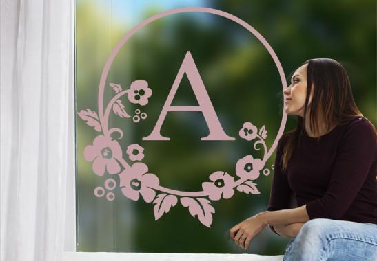 Glasdekor Wunschtext Emblem - Bild 4