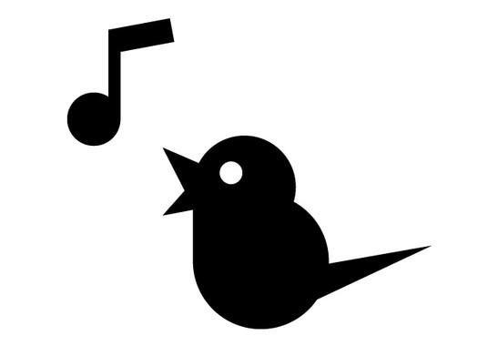 schwarz/weiss Ansicht - Wandtattoo Vogel