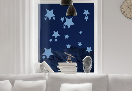 Glasdekor Funkelnde Sterne Set