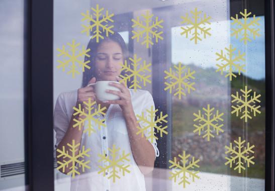 Glasdekor Schneeflöckchen Set - Bild 3