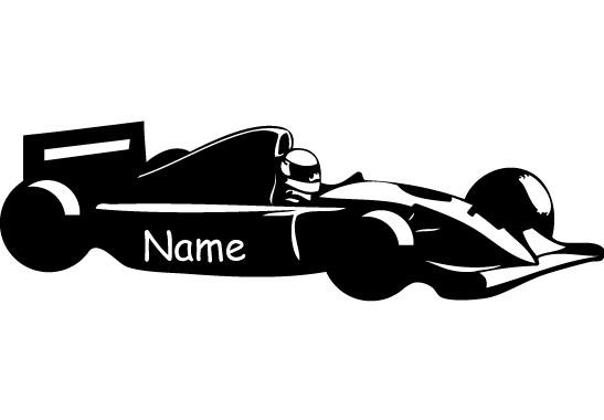 Glasdekor Wunschtext Rennfahrer - Bild 6
