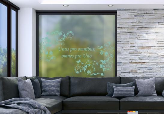 Glasdekor Wunschtext Floraler Rahmen - Bild 5