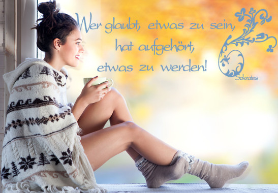 Glasdekor Sokrates Zitat