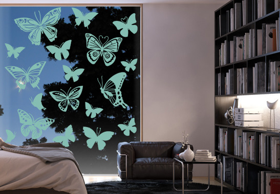 Glasdekor Schmetterlingsfamilie - Bild 5