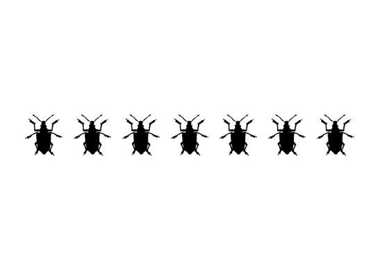 schwarz/weiss Ansicht - Wandtattoo Käfer Girlande