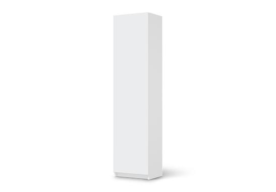 Möbelfolie Grau 4 (Pax Schrank 201cm Höhe - 1 Tür)