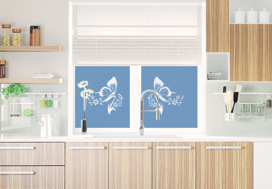 Sichtschutz Schmetterlingspaar