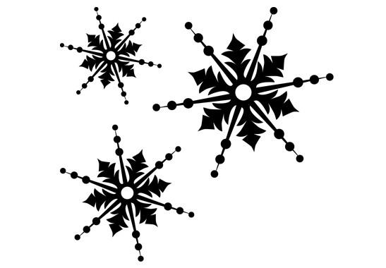 Glasdekor Drei Schneeflocken - Bild 6