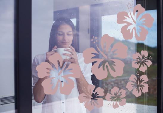 Glasdekor Hibiskus Blüten - Bild 4