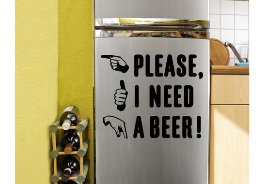 Wandtattoo A beer