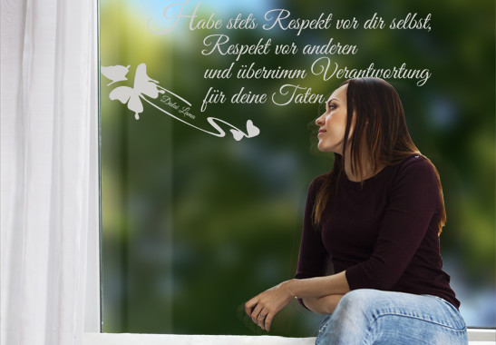 Glasdekor Dalai Lama Zitat - Bild 2