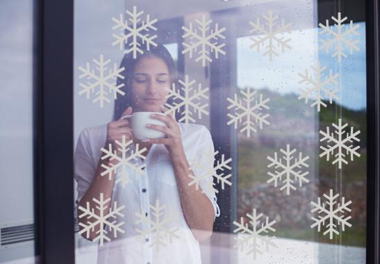 Glasdekor Schneeflöckchen Set - Bild 2
