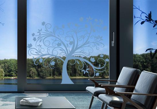 Glasdekor Herbstbaum