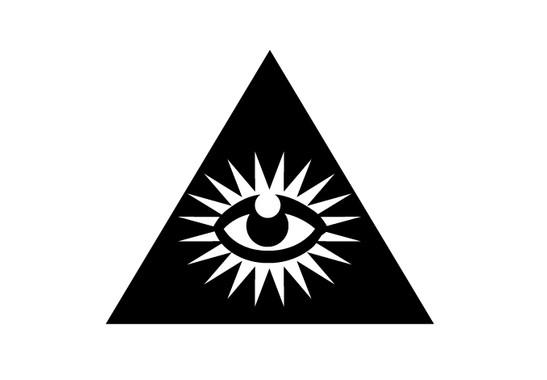 schwarz/weiss Ansicht - Wandtattoo Big Brother is watching you