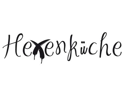 schwarz/weiss Ansicht - Wandtattoo Hexenküche