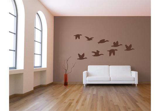 Wandtattoo Vögel im V-Flug