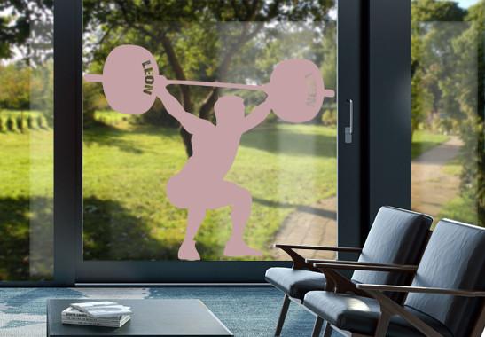 Glasdekor Wunschtext Schwergewichtler - Bild 4