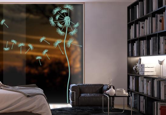Glasdekor Löwenzahnblume - Bild 5