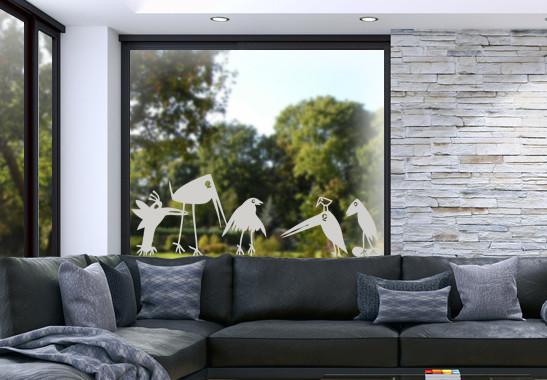 Glasdekor Rabenfamilie - Bild 2