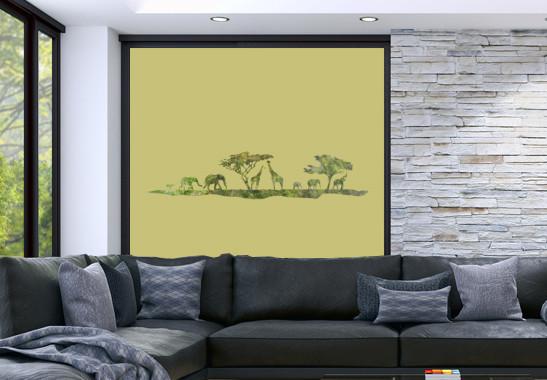 Sichtschutz Afrikanische Safari - Bild 3