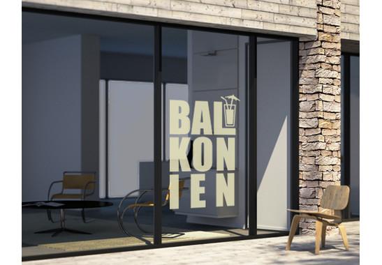 Folienfarbe in Wohnansicht: Sparkling Yellow - Glasdekor Balkonien