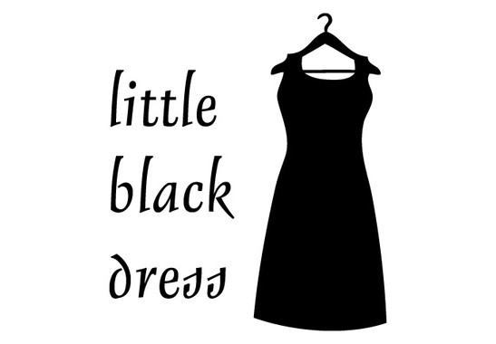 schwarz/weiss Ansicht - Wandtattoo Little Black Dress
