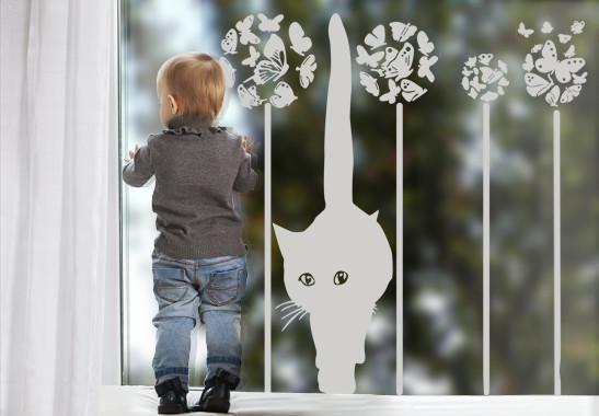 Glasdekor Sommerkatze - Bild 2