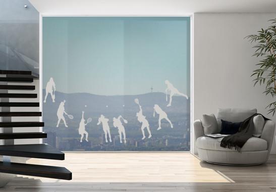 Glasdekor Tennis Aufschlag - Bild 2