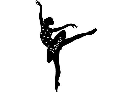 Glasdekor Wunschtext Grazile Ballerina - Bild 6