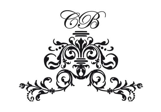 schwarz/weiss Ansicht - Wandtattoo Royal Initials