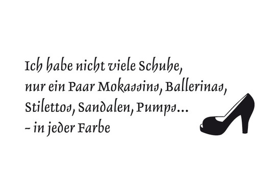 schwarz/weiss Ansicht - Wandtattoo Schuhe