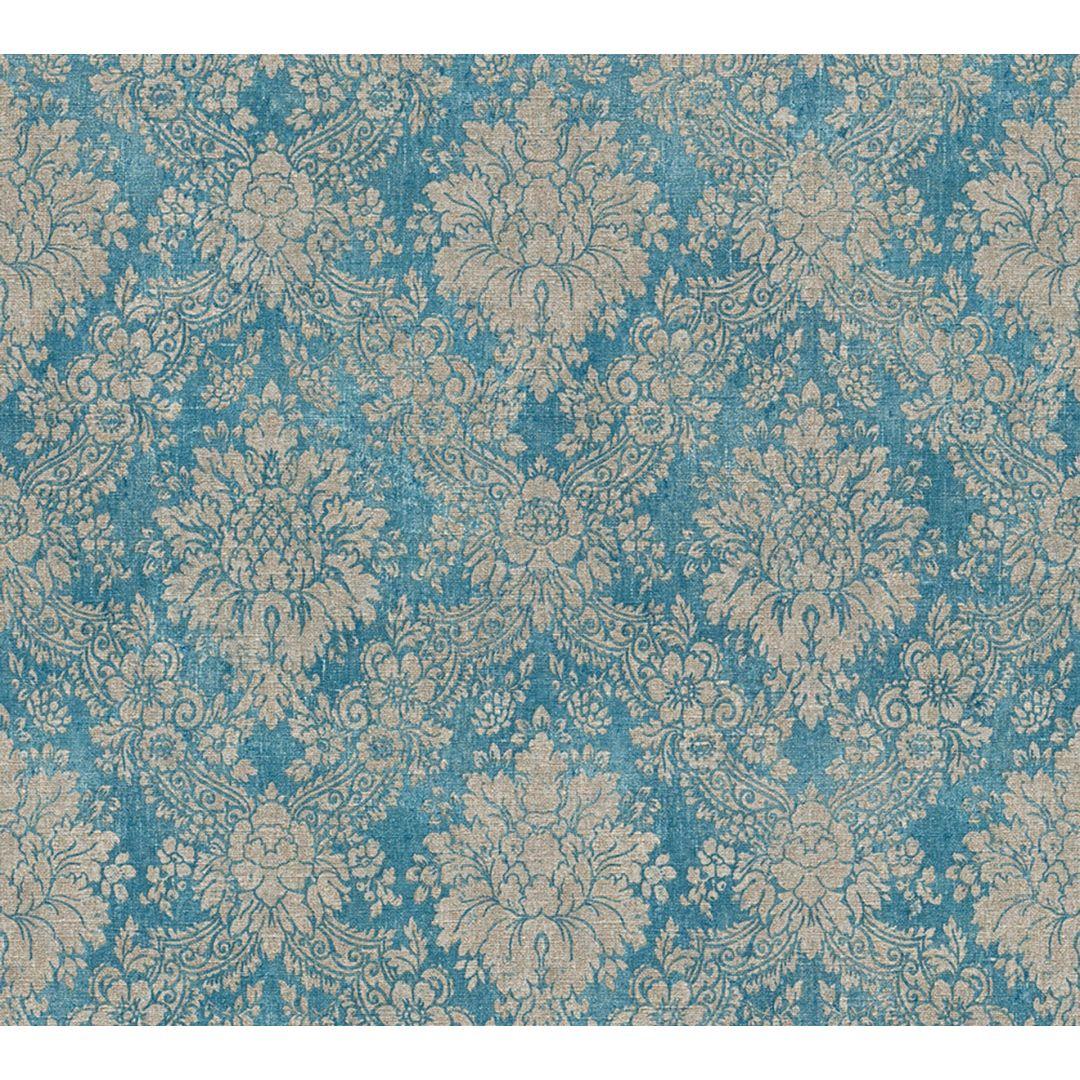 A.S. Création Tapete Secret Garden blau, braun, metallic