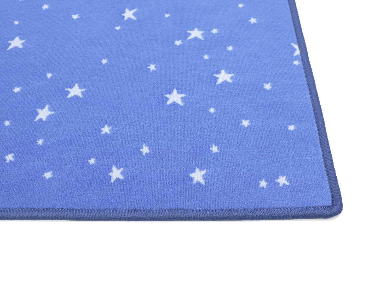 Bijou Stars Vorwerk Teppich   Blau   Muster