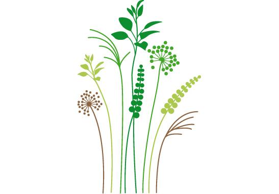 Fenstersticker Gräser