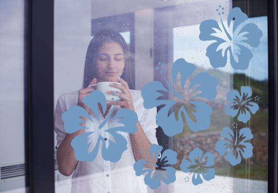 Glasdekor Hibiskus Blüten
