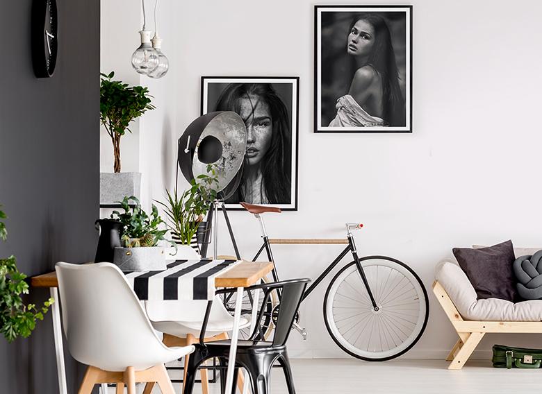 Poster-Set mit Bilderrahmen Messy Hair (2er Set)