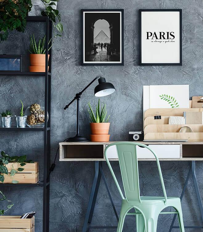 Poster-Set mit Bilderrahmen Paris is always a good idea (2er Set)